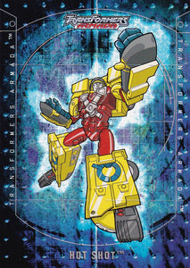 2003 Fleer Transformers Armada Flappers card 3 of 8 TF Hot Shot