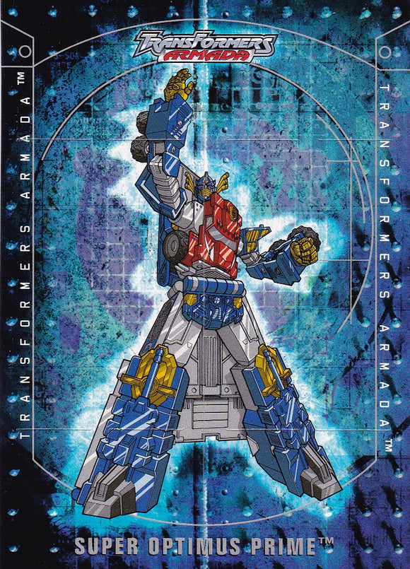 2003 Fleer Transformers Armada Flappers card 8 of 8 TF Super Optimus Prime