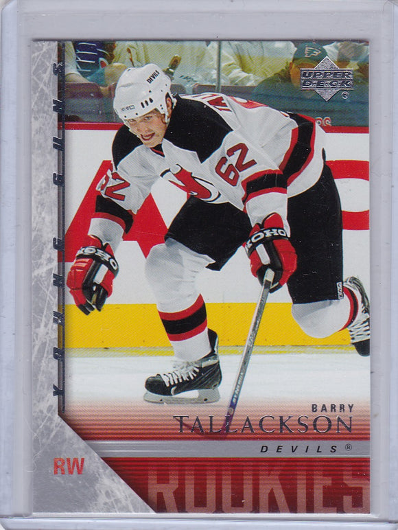 Barry Tallackson 2005-06 Upper Deck Young Guns Rookie card #472