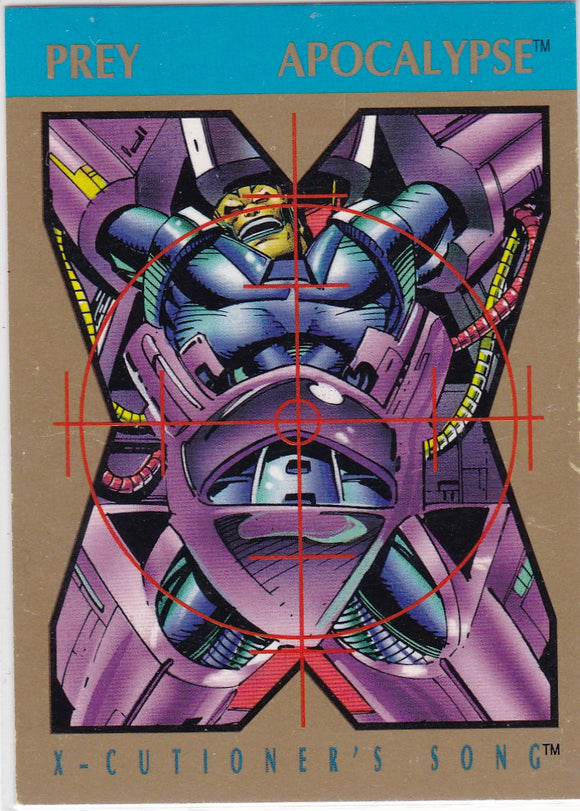 1992 Marvel X-Cutioner's Song Stryfe's Strike File Promo Card Apocalypse