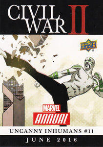 2016 Marvel Annual Civil War II Insert card CW-36