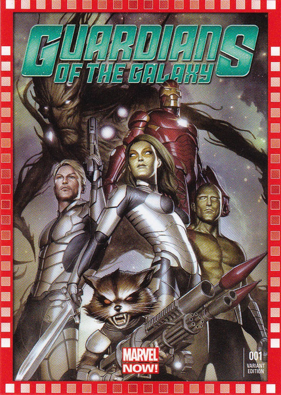 2014 Marvel Now Cutting Edge Covers Variant card 123-AG Guardians of the Galaxy #1