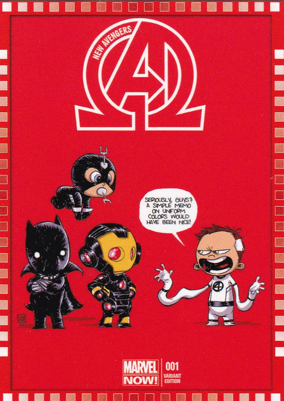 2014 Marvel Now Cutting Edge Covers Variant card 113-SY New Avengers #1