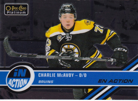 Charlie McAvoy 2017-18 O-Pee-Chee Platinum In Action card IA-21