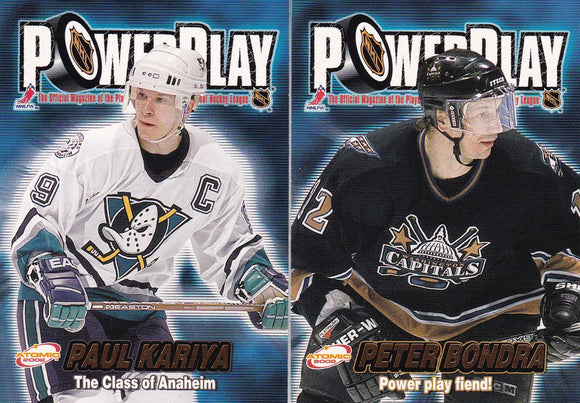 2001-02 Atomic Hockey Power Play insert cards Choose your numbers