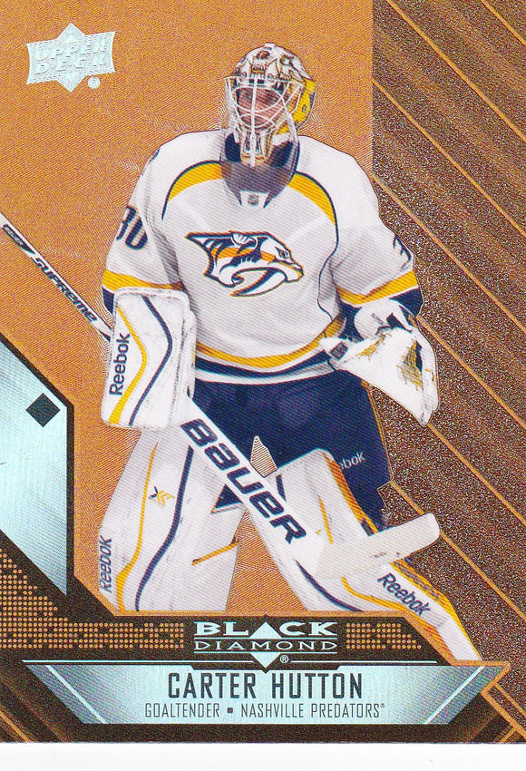 Carter Hutton 2014-15 Black Diamond card #22 Orange Parallel