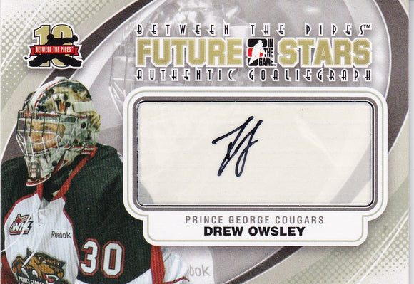 Drew Owsley 2011-12 Between The Pipes Autograph card A-DO