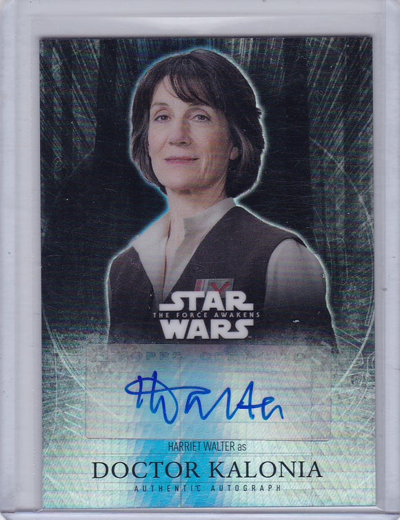 Star Wars The Force Awakens Chrome Harriet Walter Doctor Kalonia Refractor Autograph 43/50