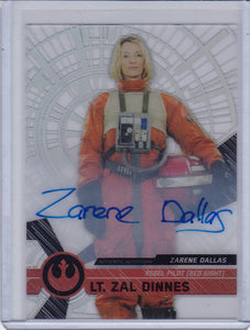 Star Wars High Tek Zarene Dallas as Lt. Zal Dinnes Autograph card #84