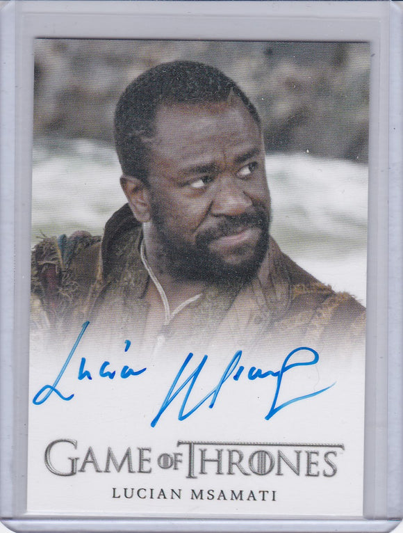 Game Of Thrones Season 5 Lucian Msamati as Salladhor Saan Autograph card