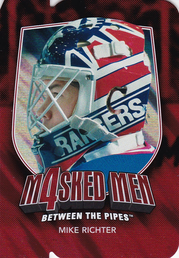Mike Richter 2011-12 Between The Pipes Masked Men 4 card MM-38 Ruby