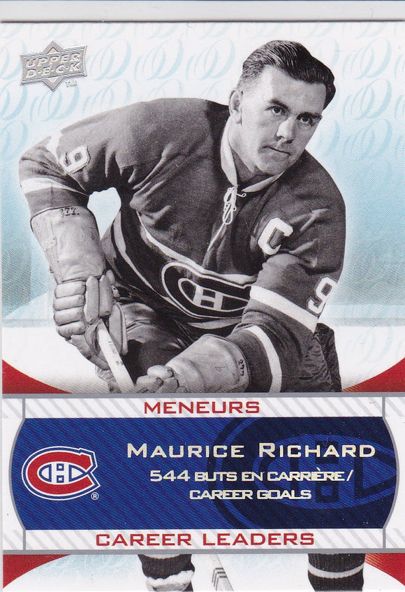 Maurice Richard 2008-09 Upper Deck Montreal Canadiens Centennial card #236