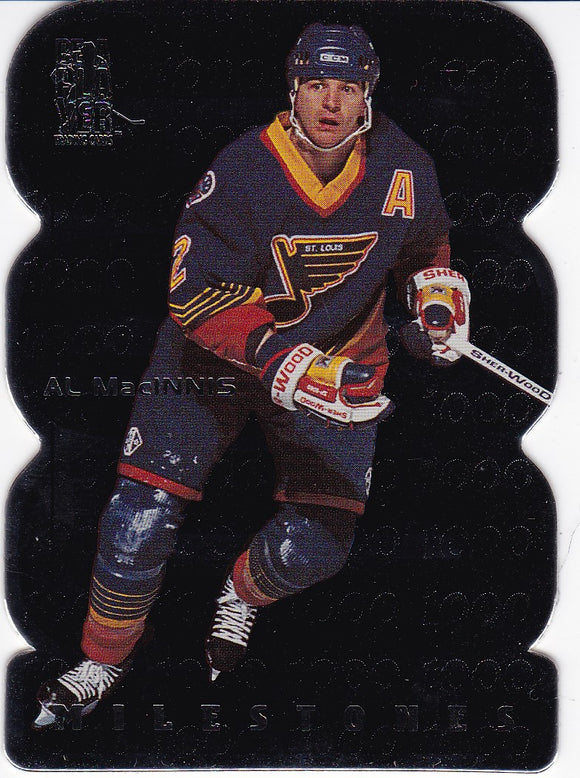 Al Macinnis 1998-99 Be A Player All-Star Milestones card M22