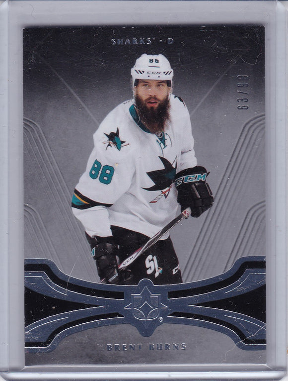 Brent Burns 2016-17 UD Ultimate Collection base card #44 #d 63/99