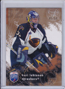Kari Lehtonen 2007-08 Be A Player card #11 Gold Parallel #d 95/99