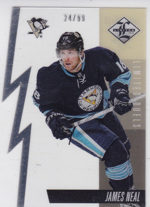 James Neal 2012-13 Limited - Limited Duels Die Cut card LD-15B #d 24/99