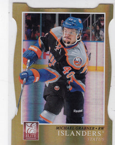 Michael Grabner 2011-12 Panini Elite card #6 Gold parallel #d 36/99
