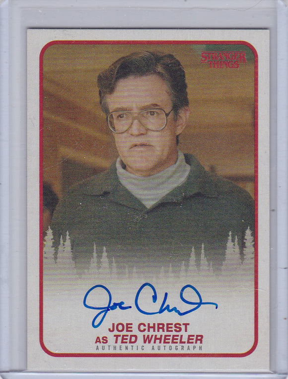 Stranger Things Season 1 Joe Chrest as Ted Wheeler Autograph card A-TW
