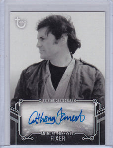 Star Wars A New Hope Black and White Anthony Forrest as Fixer Autograph card
