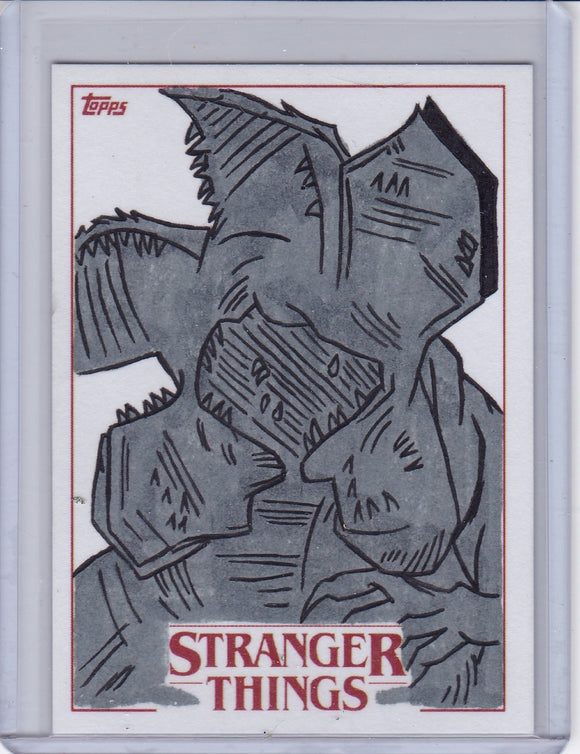 Stranger Things Season 1 Demogorgon Sketch card by Ibrahim Ozkan