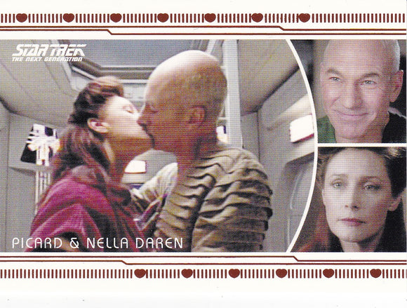 2013 Star Trek Next Generation Heroes and Villains Romance L16 Picard-Nella Daren