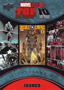 2017 Marvel Annual Top Ten Issues card TI-8 Secret Empire #0