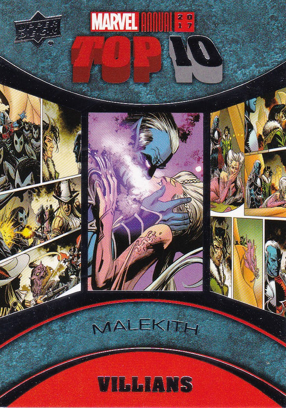 2017 Marvel Annual Top Ten Villains card TV-9 Malekith
