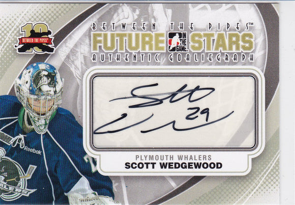 Scott Wedgewood 2011-12 Between The Pipes Future Stars Autograph card A-SW