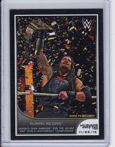 2016 Topps WWE Road To Wrestlemania Short Print base card 16 of 20 Roman Reigns