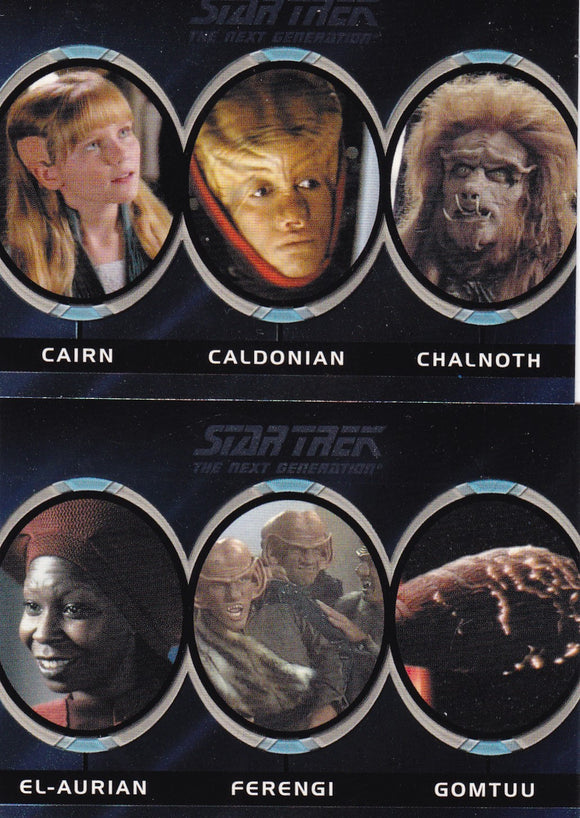 The Complete Star Trek Next Generation Series 1 TNG Aliens Choose your numbers