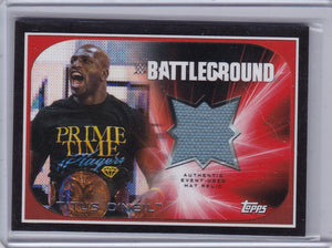 Titus O'Neil 2016 Topps WWE Road To Wrestlemania Authentic Mat Relic card #d 156/199
