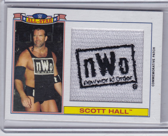 Scott Hall 2016 Topps WWE Heritage Wrestling NWO Patch card #d 234/299