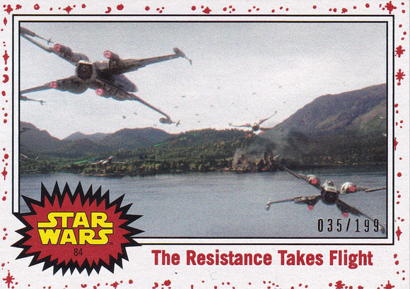 Star Wars Journey to The Last Jedi card #84 Resistance Takes Flight White Starfield #d 035/199