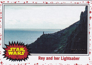 Star Wars Journey to The Last Jedi card #93 Rey White Starfield #d 013/199