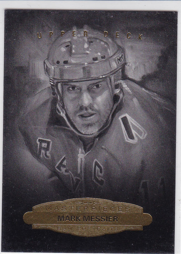 Mark Messier 2014-15 UD Masterpieces Black and White Portraits card #163