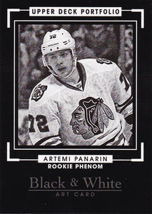 Artemi Panarin 2015-16 Portfolio Black & White Rookie Phenom card #338