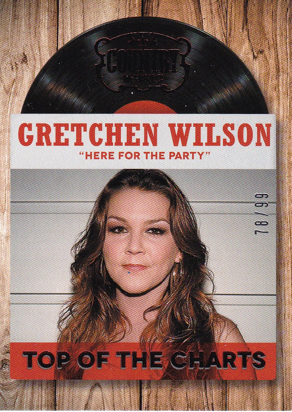 Gretchen Wilson 2014 Panini Country Music Top of the Charts card #12 Red #d 78/99