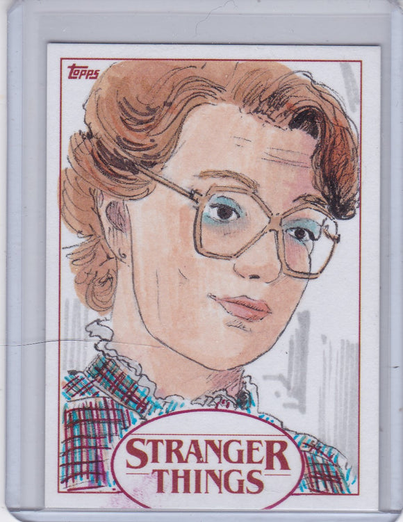 Stranger Things Season 1 Barbara Holland Sketch card by Marsha Parkins