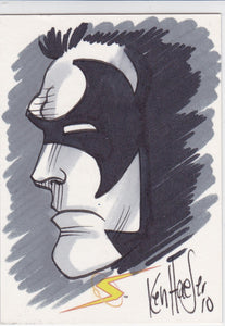 2011 Breygent Project Superpowers Hand Drawn Sketch card by Ken Haeser 76/159