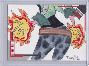 Hellboy Animated SOS Tess Fowler Sketch card SK.15 #d 017/233
