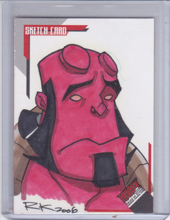 Hellboy Animated SOS Rich Koslowski Sketch card SK.14 #d 138/244