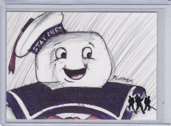 2016 Cryptozoic Ghostbusters John Sloboda Stay Puft Sketch Card