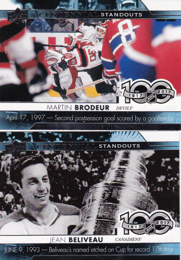 2017-18 Upper Deck Centennial Standouts Series Choose Your numbers from the list