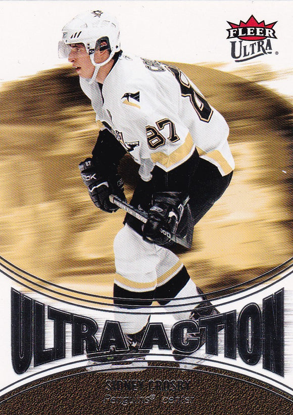 Sidney Crosby 2007-08 Fleer Ultra Action card UA1