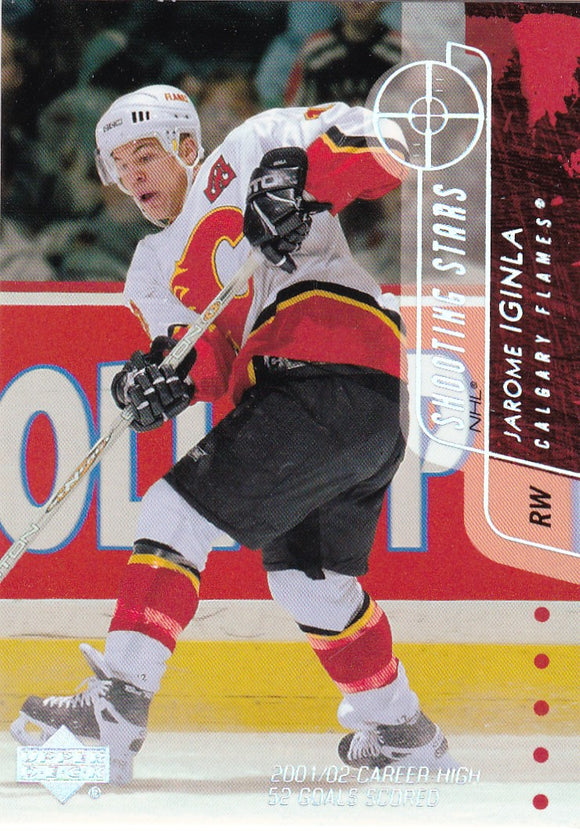 Jarome Iginla 2002-03 Upper Deck Shooting Stars card SS2