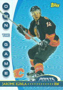 Jarome Iginla 2002-03 Topps Own The Game card OTG1