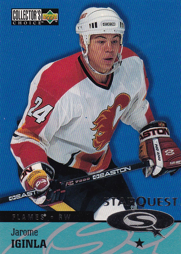 Jarome Iginla 1997-98 Collector's Choice Star Quest card SQ12