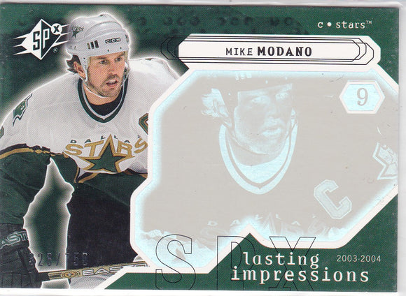 Mike Modano 2003-04 SPX Lasting Impressions card #119 #d 326/750