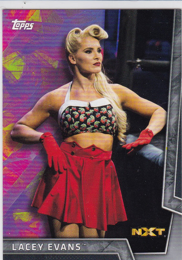 Lacey Evans 2018 Topps WWE Women's Division card #40 Silver #d 45/50