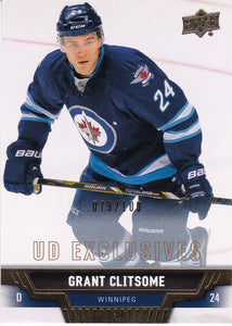 Grant Clitsome 2013-14 Upper Deck card #306 UD Exclusives #d 079/100
